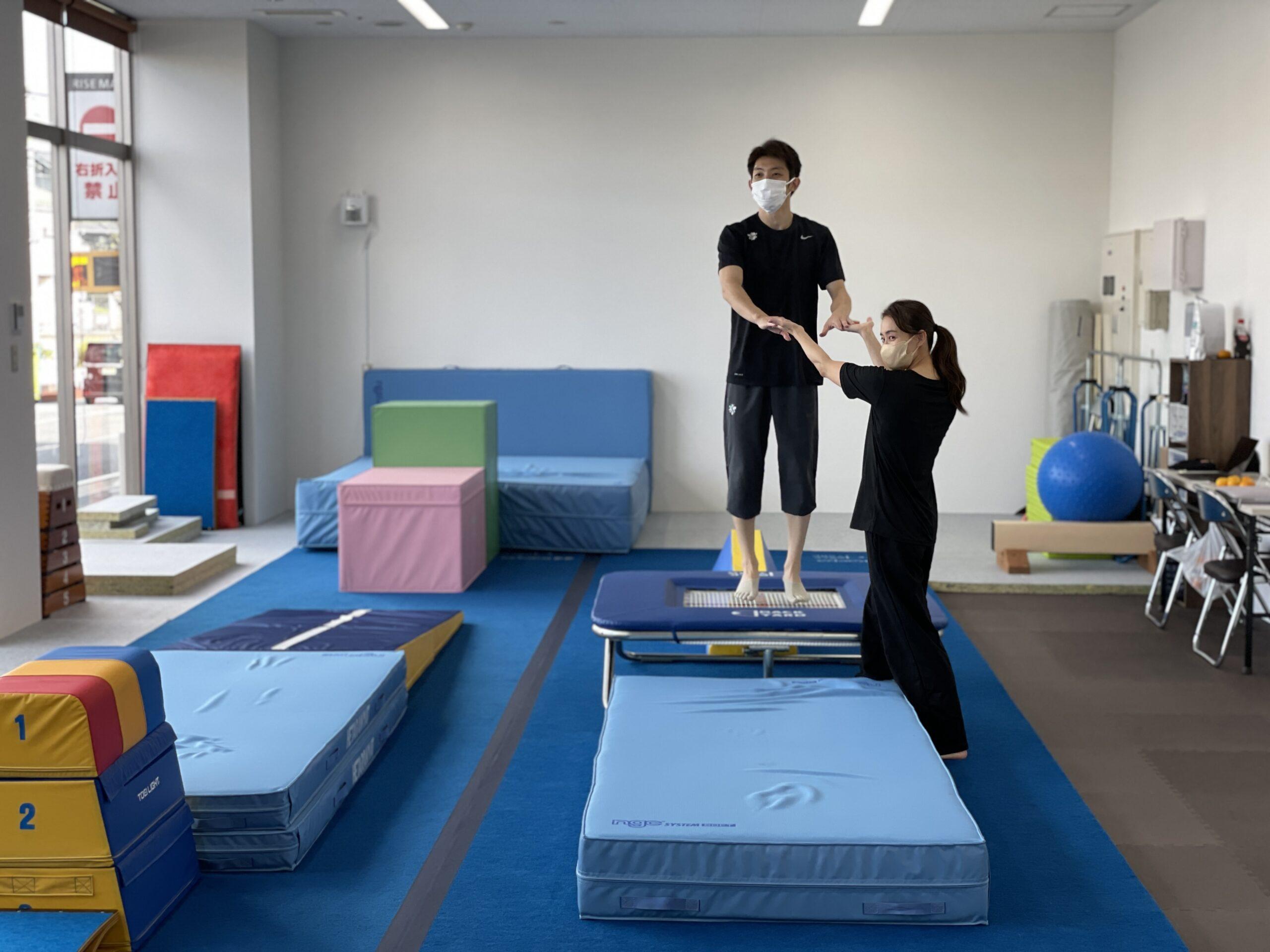 田中体操クラブで無料体験!体操サーキットのワンポイントレッスン実施中!